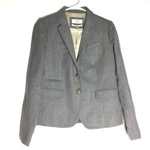 J. Crew Light Gray Wool School Boy Blazer Size 2